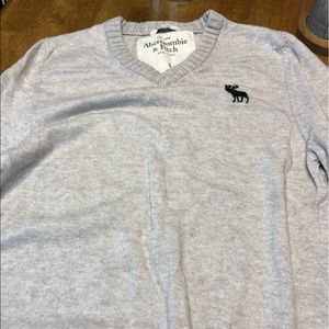 Abercrombie and Fitch soft gray sweater